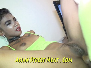 Brown Tattooed Asian Dyke Loves Dirty Anal