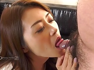 Japanese Mature Sucks a Unmitigatedly Tiny Pecker (Uncensored)